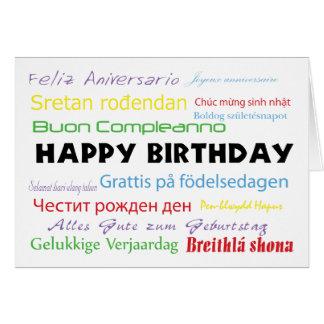 Alles Gute zum Geburtstag in der viele Sprachenkar Grußkarten