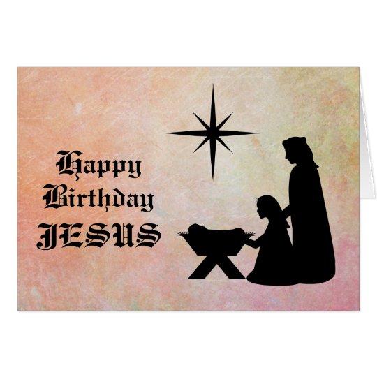 Alles Gute zum Geburtstag Jesus - Geburt Karte
