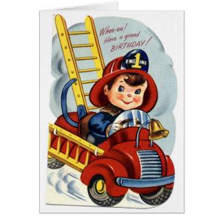 Alles Gute zum Geburtstag - junger Feuerwehrmann Karte