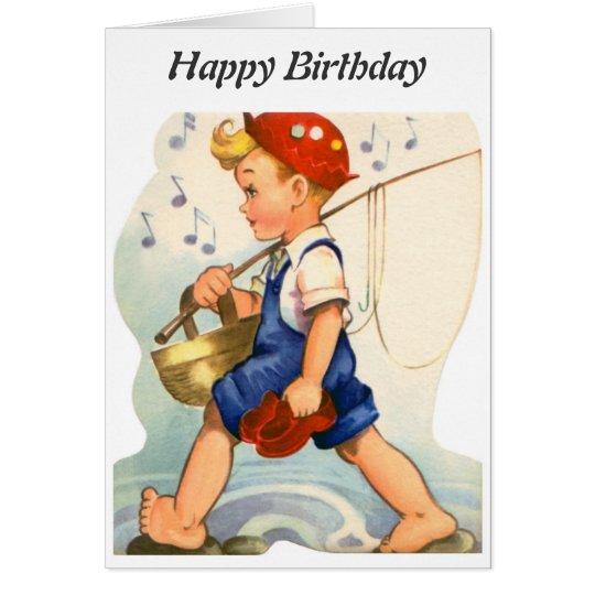 Alles Gute zum Geburtstag - junger Fischer Karte
