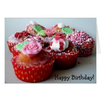 Alles Gute zum Geburtstag! Karte mit Muffins
