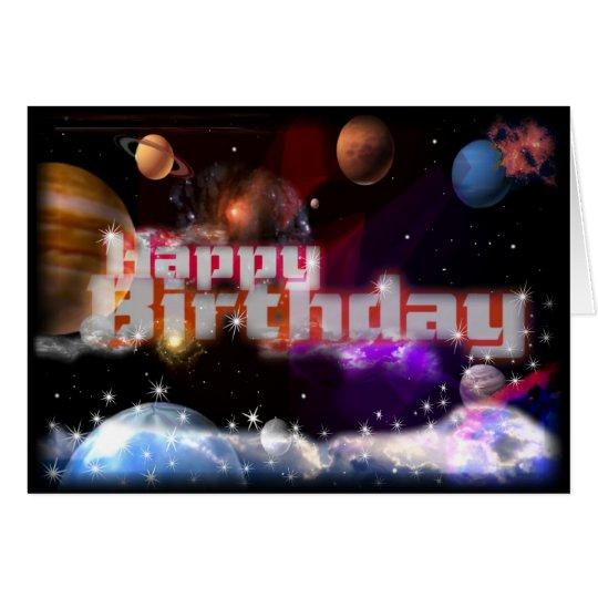Alles Gute zum Geburtstag kosmisch durch valxart Grußkarte