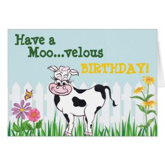Alles Gute zum Geburtstag - Kuh u. Grußkarte