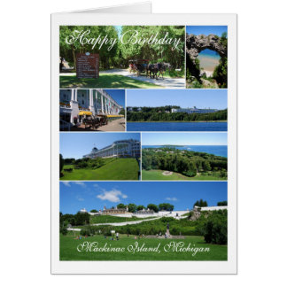 Alles Gute zum Geburtstag, Mackinac Insel-Collage Karte