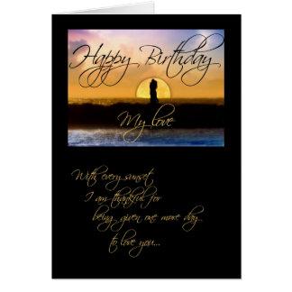 Alles Gute zum Geburtstag meine Liebe-Sonnenunterg Karten