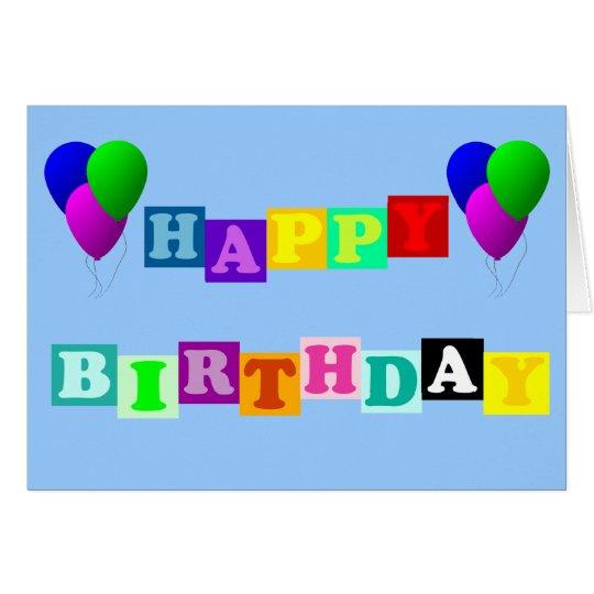 Alles Gute zum Geburtstag mit Ballonen Grußkarte