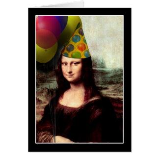Alles Gute zum Geburtstag Mona Lisa Karte