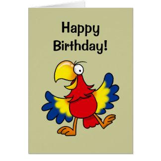 Alles Gute zum Geburtstag (niedlicher Papagei) Grußkarte