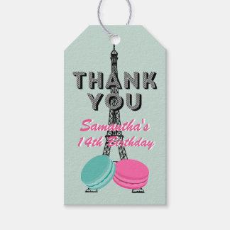 Alles Gute zum Geburtstag Paris danken Ihnen Geschenkanhänger