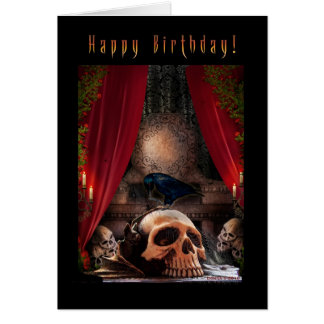Alles Gute zum Geburtstag - Raben-Höhle - leere Grußkarte
