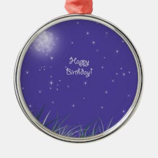 Alles Gute zum Geburtstag Rundes Silberfarbenes Ornament