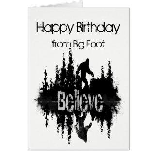 Alles Gute zum Geburtstag Sasquatch großer Fuß Karte