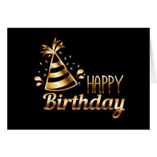 Alles Gute zum Geburtstag - Schwarzes u. Gold 3 Karte