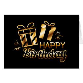 Alles Gute zum Geburtstag - Schwarzes u. Gold 4 Karte