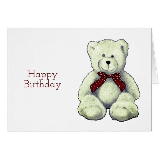 Alles Gute zum Geburtstag, Teddy-Bär, Grußkarte
