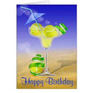 Alles Gute zum Geburtstag Tennis-Margarita Grußkarte