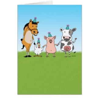 Alles Gute zum Geburtstag vom Bauernhof-Team Karte
