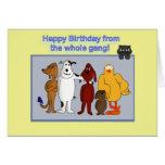 Alles Gute zum Geburtstag von der Gruppe Grußkarte