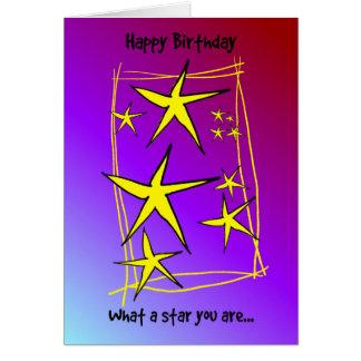 Alles Gute zum Geburtstag - was ein Stern Sie sind Karte