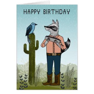 Alles Gute zum Geburtstag - Waschbär, der Karte