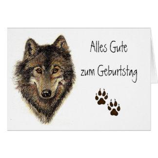 Alles Gute zum Geburtstag Wolf Wölfe Tier Karten