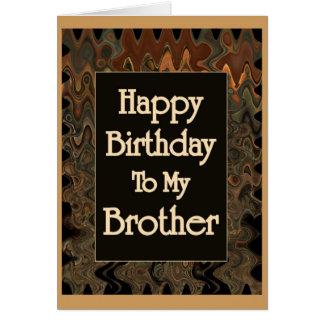 Alles Gute zum Geburtstag zu meinem Bruder Grußkarte