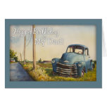 Alles Gute zum Geburtstag zu meinem Vati, blauer L Karten