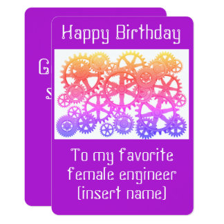 Alles Gute zum Geburtstag zu meinem weiblichen 12,7 X 17,8 Cm Einladungskarte
