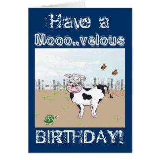 Alles Gute zum Geburtstag zu MOO! - Grußkarte