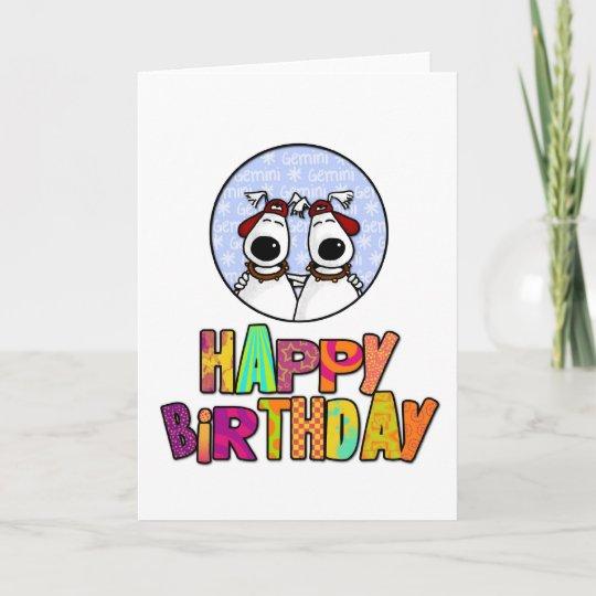Alles Gute Zum Geburtstag Zwillinge Karte Zazzle Ch