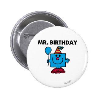 Alles- Gute zum Geburtstagballon Herr-Birthday | Runder Button 5,1 Cm