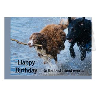 Alles- Gute zum Geburtstagbester Freund-Spaß-alte Grußkarte