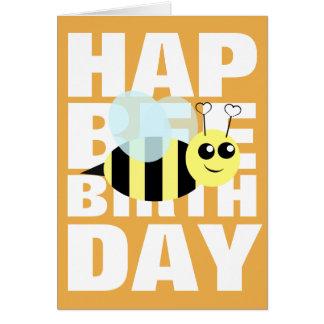 Alles- Gute zum Geburtstagbiene Grußkarte