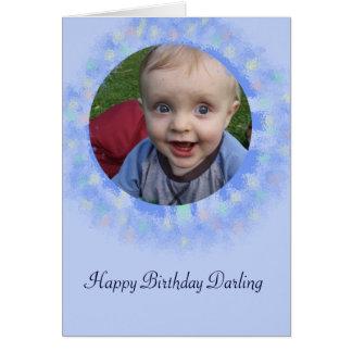 Alles- Gute zum Geburtstagblaue kundenspezifische Grußkarte