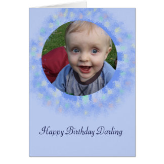 Alles- Gute zum Geburtstagblaue kundenspezifische Karte