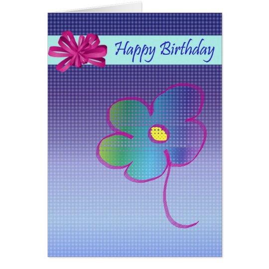 Alles- Gute zum GeburtstagBlumen-und Bogen-Entwurf Karte