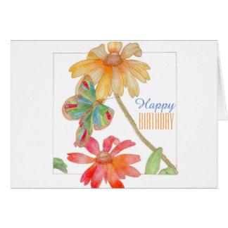 Alles Gute zum Geburtstagblumengrußkarte Karte