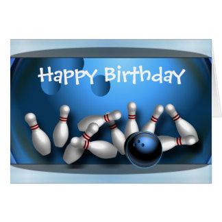 Alles- Gute zum GeburtstagBowling Karte