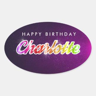 Alles- Gute zum Geburtstagcharlotte-Aufkleber Ovaler Aufkleber