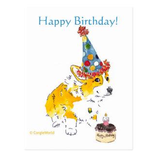 Alles Gute zum Geburtstagcorgi-Postkarte Postkarte