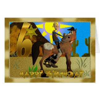 Alles- Gute zum Geburtstagcowboykarte Karte