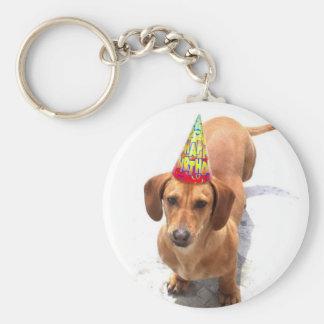 Alles- Gute zum GeburtstagDackel Keychain Schlüsselanhänger