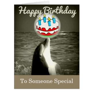 Alles- Gute zum Geburtstagdelphin-Kunst-Karte Riesige Grußkarte