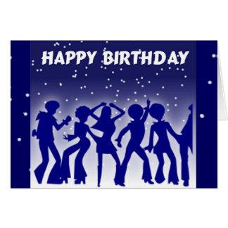Alles- Gute zum Geburtstagdisco-Tänzer Grußkarte
