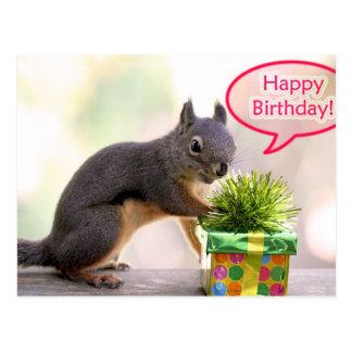 Alles- Gute zum Geburtstageichhörnchen Postkarte