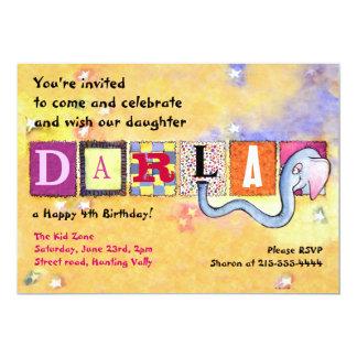 Alles- Gute zum Geburtstagelefant-Baby-Einladung Karte