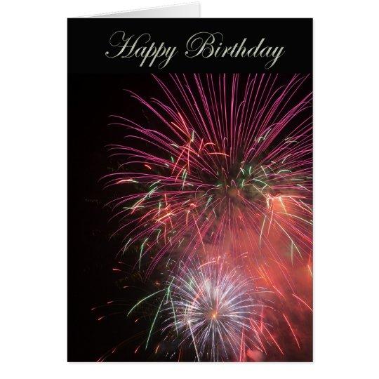 Alles- Gute zum GeburtstagFeuerwerke Grußkarte