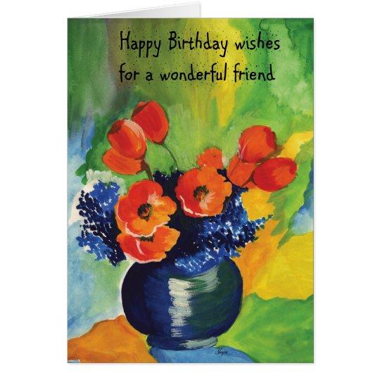 Alles Gute zum Geburtstagfreund Grußkarte