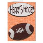 Alles- Gute zum Geburtstagfußball-Karte in der Ora