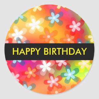 Alles- Gute zum Geburtstaggeschenk-Aufkleber Runder Aufkleber